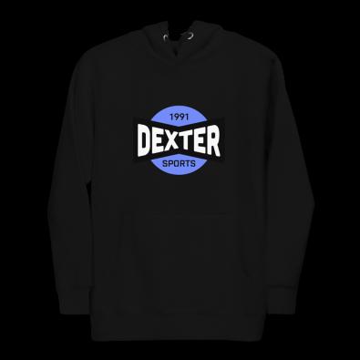 Unisex Dexter Sports Black Hoodie